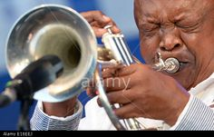 Hamburg, Germany. 23rd May, 2014. South African musician Hugh Masakela performs at Elbjazz Festival. Credit: dpa/Alamy Live News