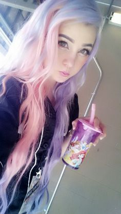 I think since i have lighter hair i should go a lighter dye? Idk. I like this one though. Pink Hair Dye, Pastel Pink Hair, Bright Hair, Dye My Hair, Purple Hair, Kawaii Hairstyles, Pretty Hairstyles, Harajuku, Punk
