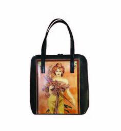 Ručne maľovaná kabelka 8192 inšpirovaná motívom Alfons Mucha