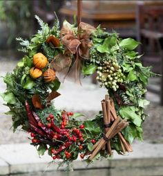 London florist Moyses Stevens has been producing stunning arrangements since Their traditional festive wreath, with different ornaments adorning each section, wouldn't have looked out of place at a Victorian Christmas. Christmas Door Wreaths, Noel Christmas, Rustic Christmas, Christmas Ornaments, Winter Wreaths, Holiday Wreaths, Office Christmas, Spring Wreaths, Christmas Vacation