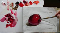 Yummy red cherry: The Sketch and Paint Mania
