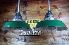 Vintage 30's Benjamin Explosion Proof Industrial Light Fixture Gas Station Barn1