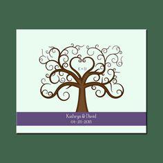 Modern Guestbook Alternative, Fun Wedding Thumbprint Tree, Elegant Wedding…