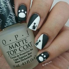 "Matte version of my cats desing using @bornprettystore water decals . (look my previous post to see what i think about them) Product: 1 pc Abstract Geo Pattern Water Decals Nail Stickers (# 21574)  Don't forget to use my code VALX31"" for a 10% off at http://ift.tt/UewJf8 .  #nailart #nailsdid #nailotd #naildesign #nailstagram #nailedit #nails2inspire #nailsofinstagram #nailsoftheday #nailaddict #nailartlove #nailartdiary #instanails #instachile #nailpromote #nailartpromote #instanails…"