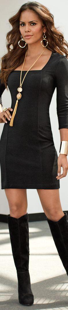 Boston Proper Three-Quarter-Sleeve Travel Dress LOOKandLOVEwithLOLO