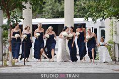 Melissa & Whit | Photo by Studio Tran. #wedding #southernwedding #springwedding #churchwedding #nolawedding #neworleanswedding #weddingideas #weddinginspiration #weddinggown #weddingdress #goldwedding #navywedding #navybridesmaid #bridesmaid #blushwedding