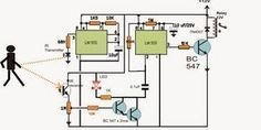 Simple Proximity Detector Using IC 555 - Complete Working Description with Schematic - Homemade Circuit Projects Hobby Electronics, Electronics Storage, Cool Electronics, Electronics Projects, Electronic Circuit Projects, Electrical Projects, Electronic Engineering, Electrical Engineering, Chemical Engineering