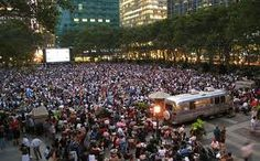 Bryant Park-summer movie in the park