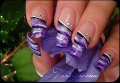 hand painted french manicure by Tartofraises.deviantart.com on @deviantART