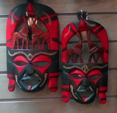 African tribal masks, Zoo Atlanta Trading Company Gift Shop.
