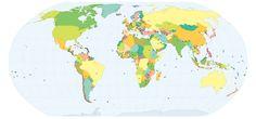Mapa Interactivo com as Capitais dos Países do Mundo - Forma rápida de visualizar o Mapa Mundo com os respectivos países e capitais - VICIANTE!!!