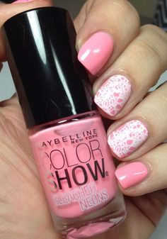 Bleached Neons Maybelline Mani