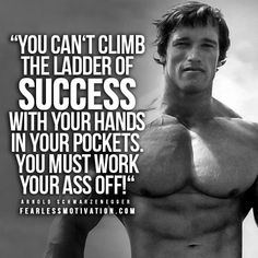 Arnold schwarzenegger success you cant climb the ladder of keeping your fitness goals realistic a honest guide to results malvernweather Image collections