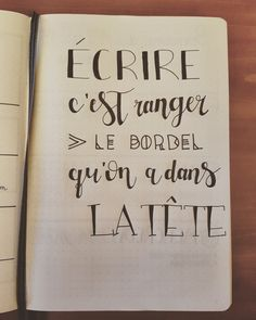 Citation dans mon Bullet Journal.  ✒✏ French Quotes, Bullet Journal Inspiration, Journal Ideas, Decir No, Bujo, Best Quotes, Life Quotes, Quotations, Jolie Phrase