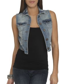 Vintage Denim Vest - Vests