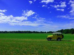 Toyota LandCruiser FJ40 BJ42 Photo shoot on 07-07-2015 Toyota #LandCruiser #FJ40 #BJ42 #BJ40 #Vintage #Vintage4x4 #Restored #MustardYellow