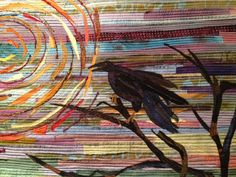 Raven against Sky Bird Quilt by super talented quilter... obviously.