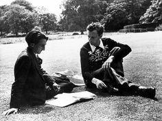 Benjamin Britten and Ronald Duncan at Glyndeboure