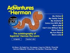 Resource Thursday: The Adventures of Herman the Worm 1st Grade Science, Kindergarten Science, Science Fair, Science For Kids, Science Ideas, Worm Facts, Fun Facts, Earthworms, Preschool Themes