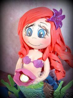 A sereia Ariel feita em EVA
