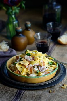 Creamy Smoked Fish Pappardelle with Garlic, Parsley, Lemon and Capers