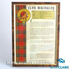 MacAulay Clan History Print
