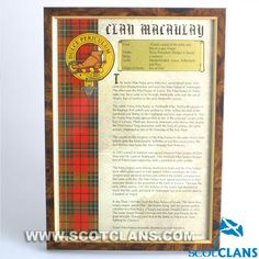 MacAulay Clan Histor