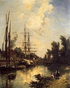 Johan Barthold Jongkind - Boats Dockside
