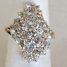 14K Yellow Gold Diamond Cluster Ring   46 Diamonds   1.80 Carats t.wt.  $3699  Harold's Diamonds and Jewelry  1228 W. Main St.  Lewisville, TX 75067  Harold's buys and sells estate jewelry!  www.haroldsjewelers.net  Read more: http://dallas.ebayclassifieds.com/jewelry-watches/lewisville/14k-yellow-gold-diamond-cluster-ring/?ad=39982160#ixzz3duDt08Uc