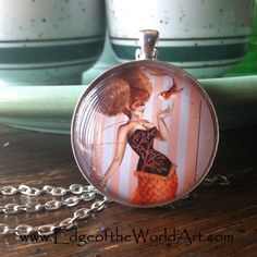NECKLACE Coral - Corset Mermaid cute girl with afro puffs orange tail and koi fish painting by Rachel Walker Rachel Walker, Mermaid Ornament, Afro Puff, Beauty Art, Koi, Mermaids, Cute Girls, Corset, Beaded Jewelry