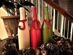 JOY Wine Bottle Set by ReclaimYourFaith on Etsy, $18.00
