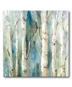 Another great find on #zulily! River Birch I Wrapped Canvas #zulilyfinds