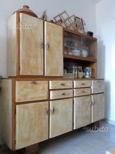 La credenza anni \'50 della mia cucina; recuperata e decorata da me ...