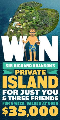#Win a $35,000 Private Island #Getaway! #vacation #holiday #competition