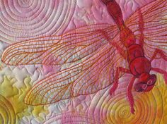 Dragonfly quilt by Susan Brubaker Knapp.