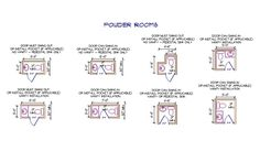 Photographic Gallery Minimum size requirements for powder rooms is simple Toilet placement must have side