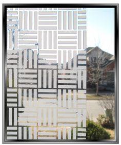 $33.99 Four Squared Frost Stripes - DIY Decorative Privacy Window Film