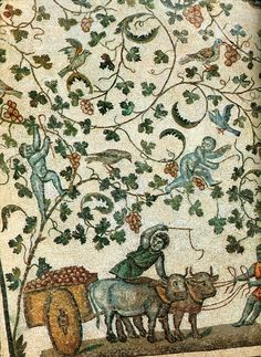Ancient Byzantine mosaics, 5th century