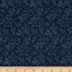 """108"""" Wide Back Fan Floral Blue from @fabricdotcom  From Windham Fabrics, this 108'' wide quilt backing excellent for adding that extra splash of color or pattern. It is perfect for quilt backing, duvets, light curtains and more! Colors include shades of blue."""