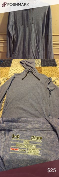 Women's Under Armour stadium hoodie, S, EUC Women's Under Armour stadium hoodie, S, EUC, only worn once - a little big on me, very soft and comfortable, light weight, 55% cotton 34% polyester 11% rayon, in perfect condition! Made to fit loose, first photo shows the fit and color! Under Armour Tops Sweatshirts & Hoodies