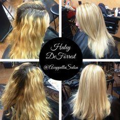 By: Haley DeForrest @haley_deforrest #acappellasalon #acappellahairdesign #eufora #blonde #highlights #hair #haircolor ✂️
