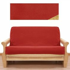 Solid Red Futon Cover Twin 410 by SlipcoverShop. $39.00. Made in USA.. See Sizing and Product Description below. In Stock - Ships within 2 days. Made to fit Twin size futon mattress measuring 39 inches wide, 75 inches long and up to 8 inches thick. Futon cover features 3 sided, concealed zipper construction. Made in USA. Solid Red fabric is crafted from upholstery grade duck and will last the test of time. With this slipcover, seasonal decorating throughout your...