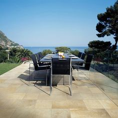 It's Memorial Day weekend! The unofficial start of summer and we're thinking about outdoor tile. Our Pangea series is a textured porcelain with a lot of variation perfect for any project including this awesome outdoor dining area! #tiles #tile #tilefloor #tileaddiction #floortiles #floortile #outdoors #patio #patiofurniture #outdoortiles #dining #outdoordining #design #designer #outdoordecor #outdoordesign #ihavethisthingwithfloors #ihavethisthingwithtiles #architecture #richardsandsterling…