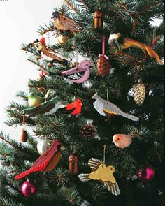 DIY Cinnamon Bird Ornaments - Although these whimsical birds look and smell like gingerbread cookies, their sparkling plumage hints at their true nature as sweet (though not edible) works of art. Christmas Templates, Easy Christmas Crafts, Noel Christmas, Homemade Christmas, Simple Christmas, Winter Christmas, Christmas Gifts, Christmas Decorations, Tree Decorations