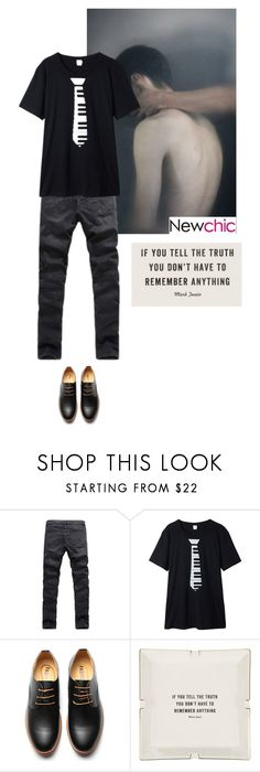 """NEWCHIC Men's fashion 1"" by matea0605 ❤ liked on Polyvore featuring Men's Society, men's fashion and menswear"
