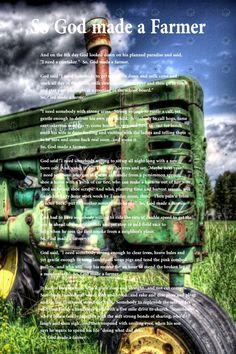 So God Made a Farmer.... love this!