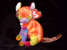 ac683adc799 TY Beanie Baby - KALEIDOSCOPE the Cat (6 inch) From the Ty Beanie Babies