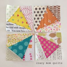 crazy mom quilts: paper piecing tips from a frugal girl