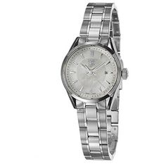 TAG Heuer Carrera White Mother-Of-Pearl Dial Stainless Steel Women'S Tag-Wv1415-Ba0793 Watch $1402