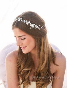 Pelo novia vid Rhinestone boda cabello vid atado por BeSomethingNew